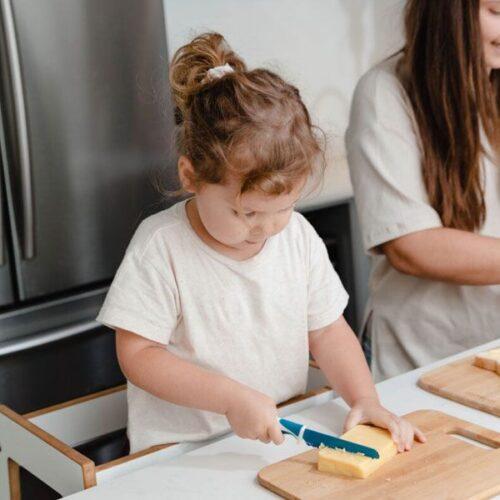 Cuchillo azul para niños