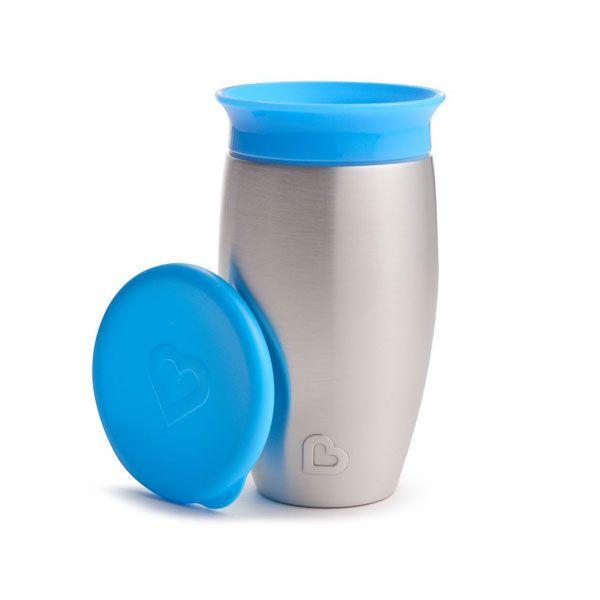 taza 360 antigoteo azul térmica munchkin