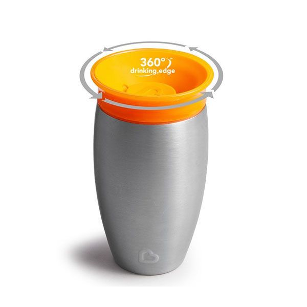 taza 360 antigoteo naranja térmica munchkin