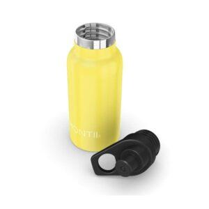 Botella térmica amarilla con boquilla