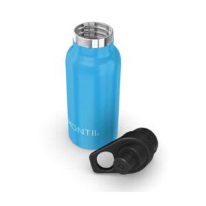 Botella térmica azul con boquilla