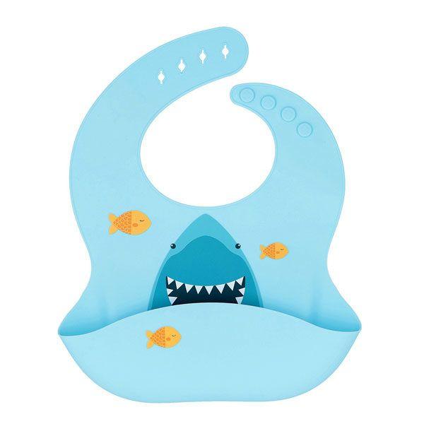 Comprar un babero de silicona de tiburón