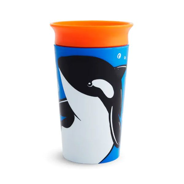 Taza antiderrame del animal Orca