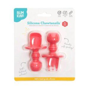 Cubiertos de silicona chewtensils rojo