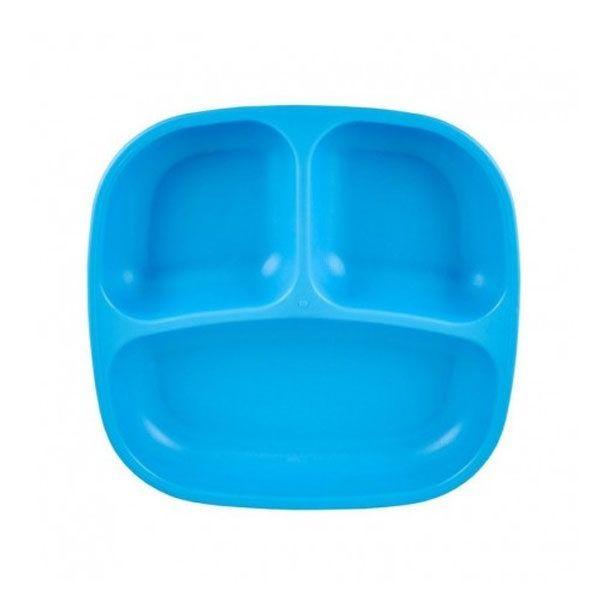 Plato con compartimentos azul de la marca replay