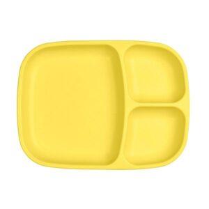 Plato grande con compartimentos amarillo de la marca replay