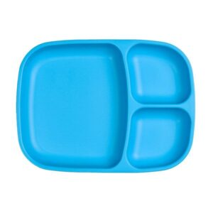 Plato grande con compartimentos azul de la marca replay