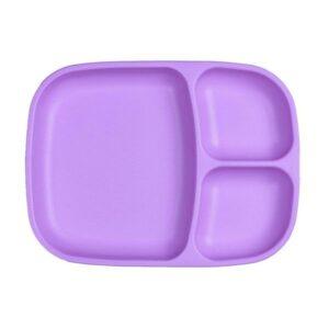 Plato grande con compartimentos lila de la marca replay