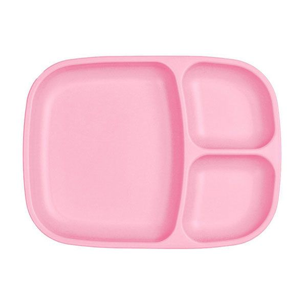 Plato grande con compartimentos rosa claro de la marca replay