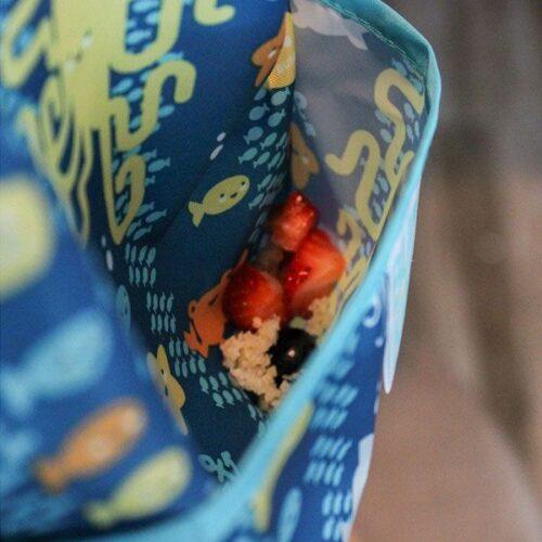 Babero impermeable animales del mar