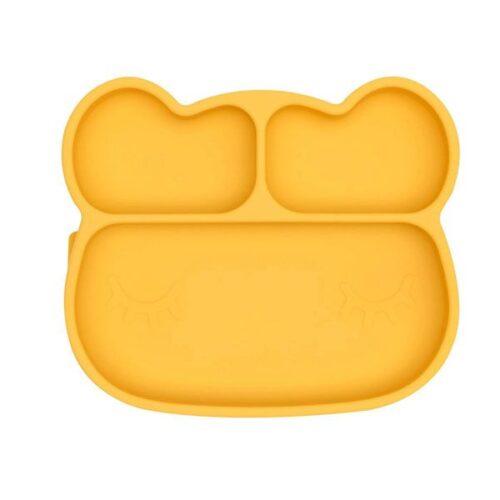 Plato con ventosa oso amarillo