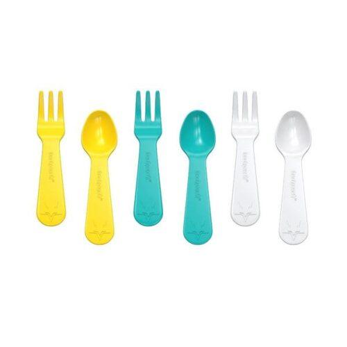 Cucharas y tenedores para yumbox, color amarillo