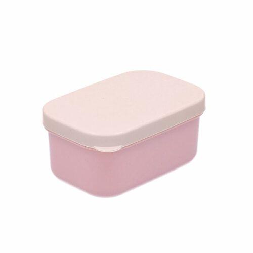 Caja almuerzo puntitos rosa